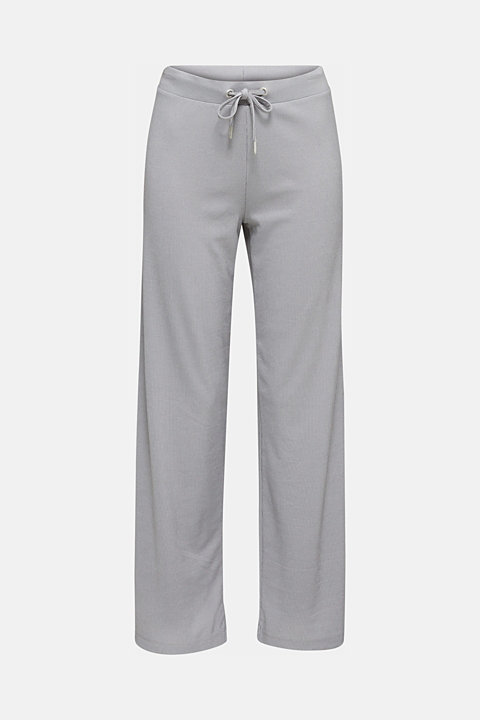 Modal/TENCEL™ blend: ribbed trousers