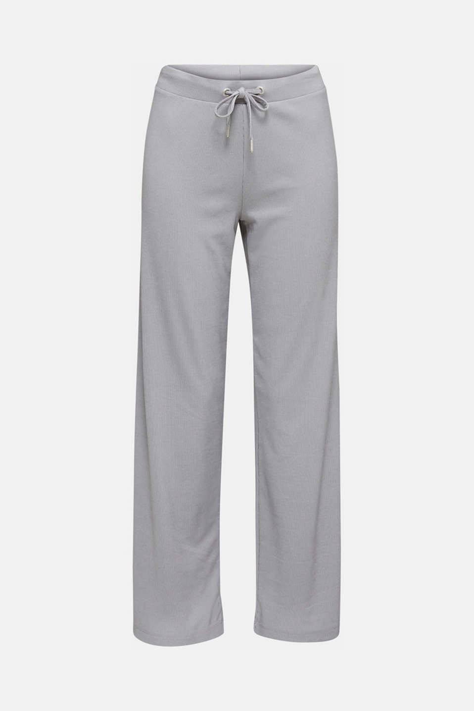Trousers with a ribbed texture and modal/TENCEL™, GREY 2, detail image number 5