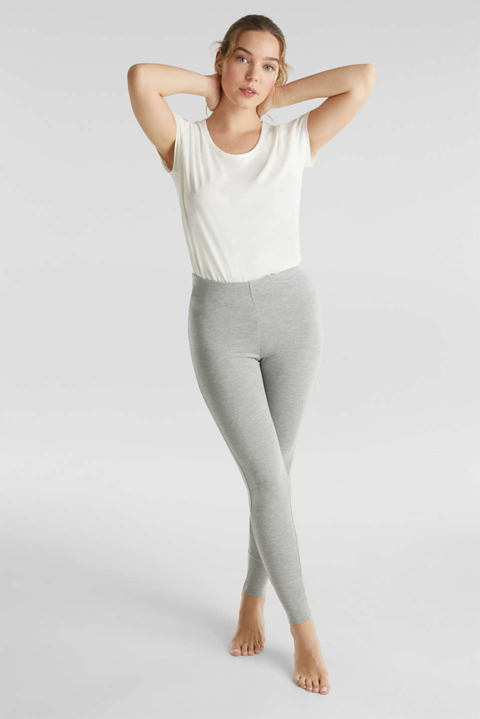 Esprit - Leggings en Modal/TENCEL™ à teneur en stretch