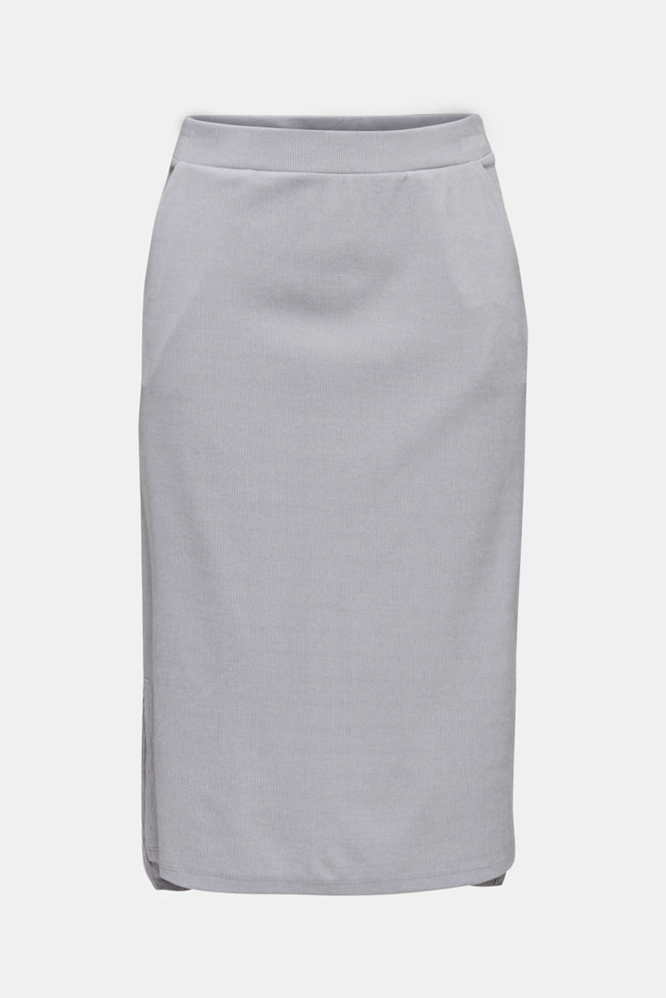 Made of modal/TENCEL™: ribbed skirt, GREY 2, detail image number 6