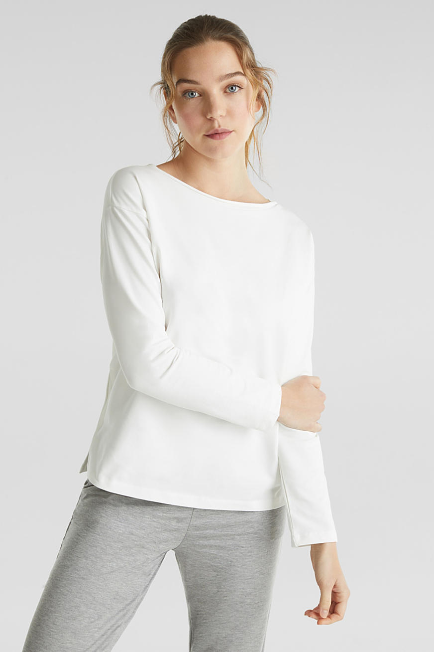 Sweat-shirt en coton stretch