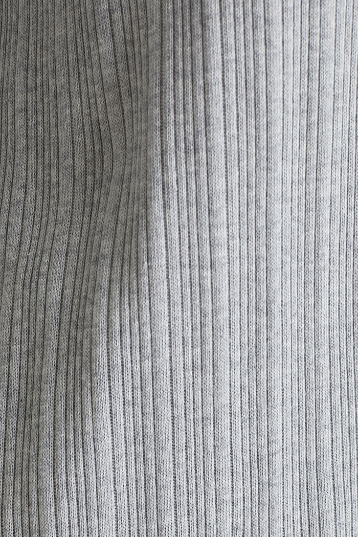 Jersey cardigan with a ribbed texture, GREY, detail image number 4