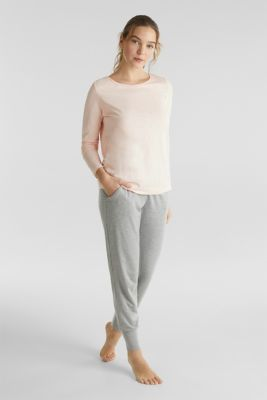 Long sleeve top made of 100% organic cotton, SALMON, detail
