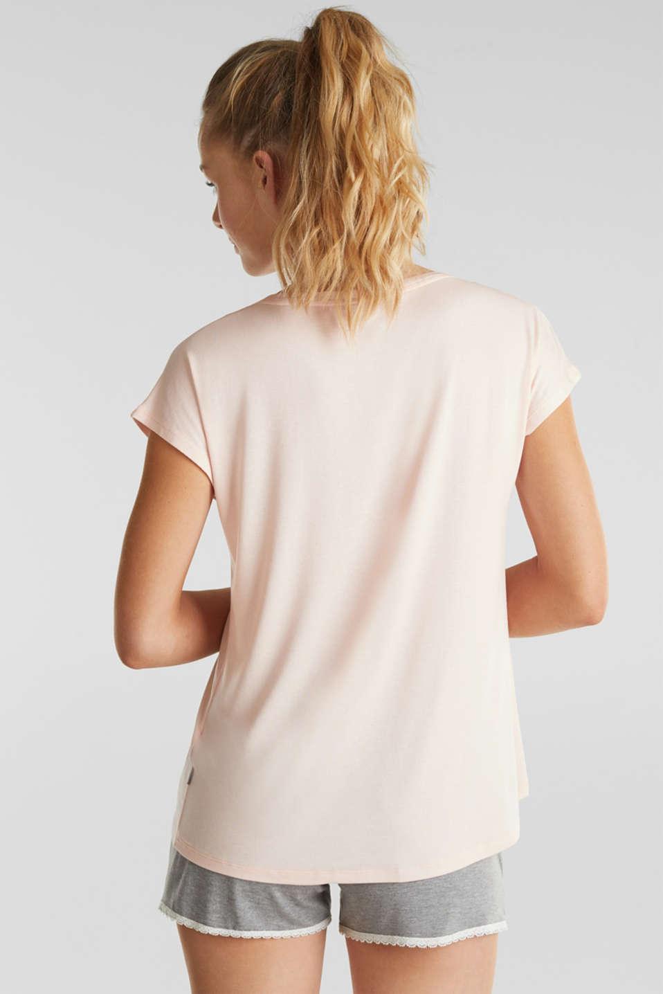Made of lyocell/TENCEL™: loungewear top, SALMON, detail image number 2