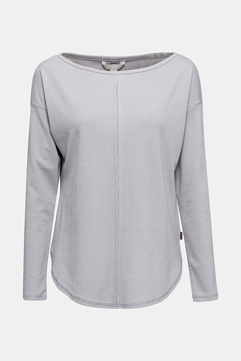 Ribbed long sleeve top with modal/TENCEL™