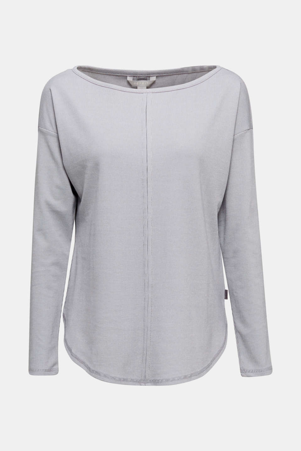 Ribbed long sleeve top with modal/TENCEL™, GREY 2, detail image number 6