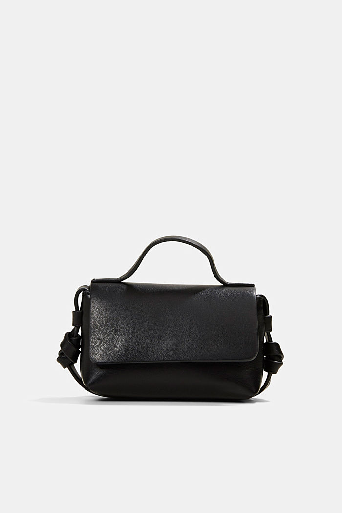 Vegan: Mini shoulder bag, BLACK, detail image number 0