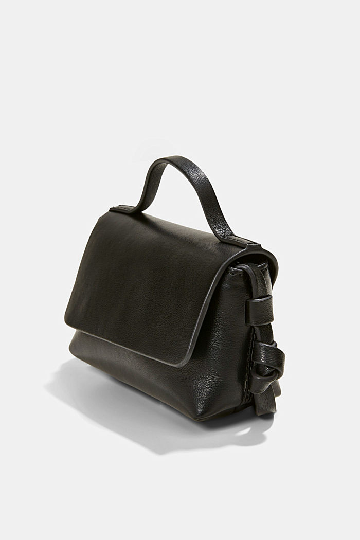 Vegan: Mini shoulder bag, BLACK, detail image number 2