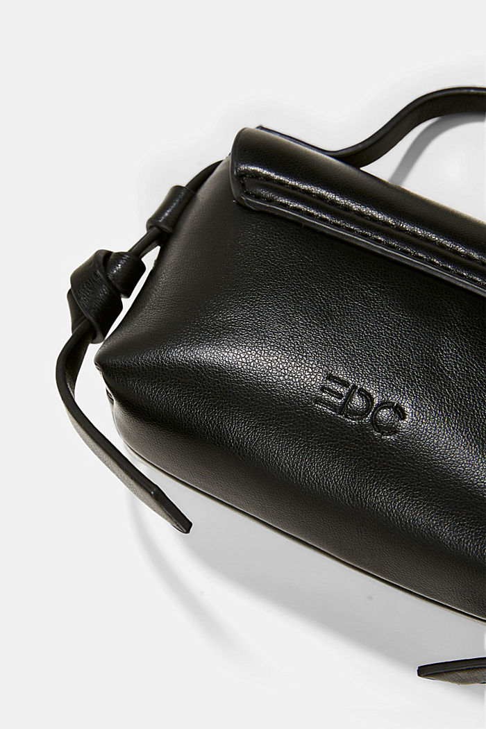 Vegan: Mini shoulder bag, BLACK, detail image number 4
