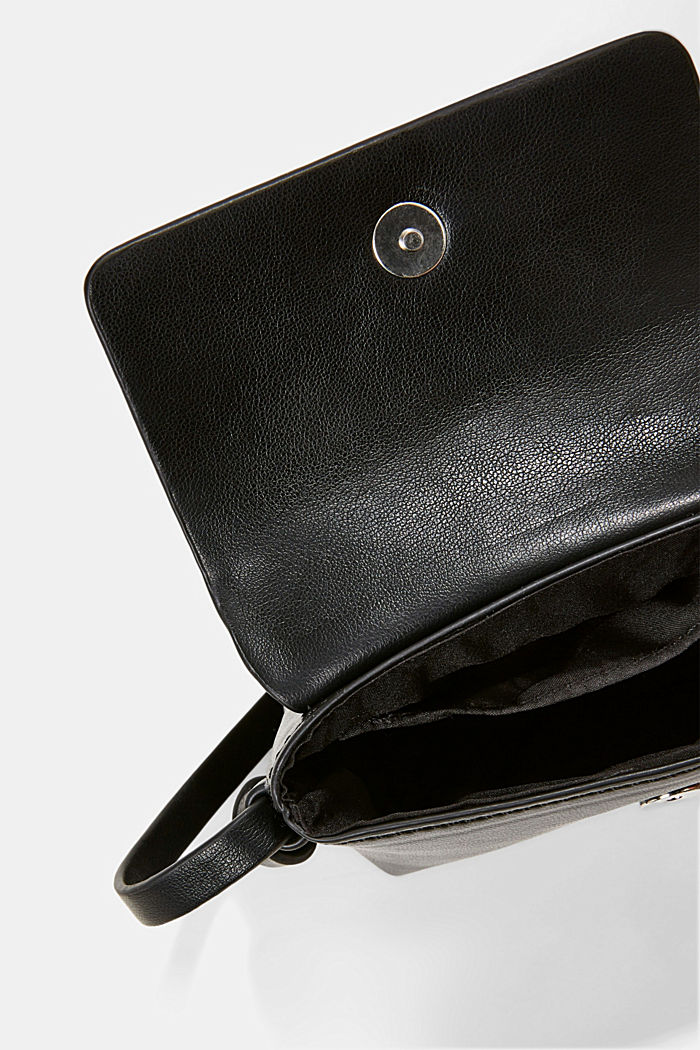 Vegan: Mini shoulder bag, BLACK, detail image number 3