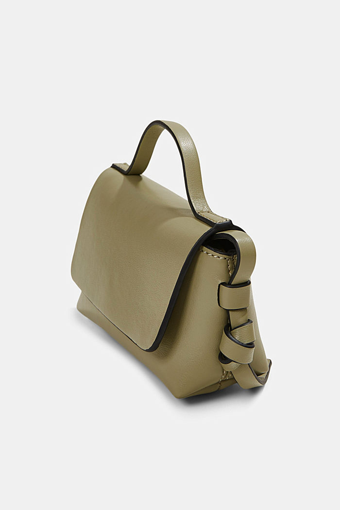 Vegan: Mini-Schultertasche, LIGHT KHAKI, detail image number 2