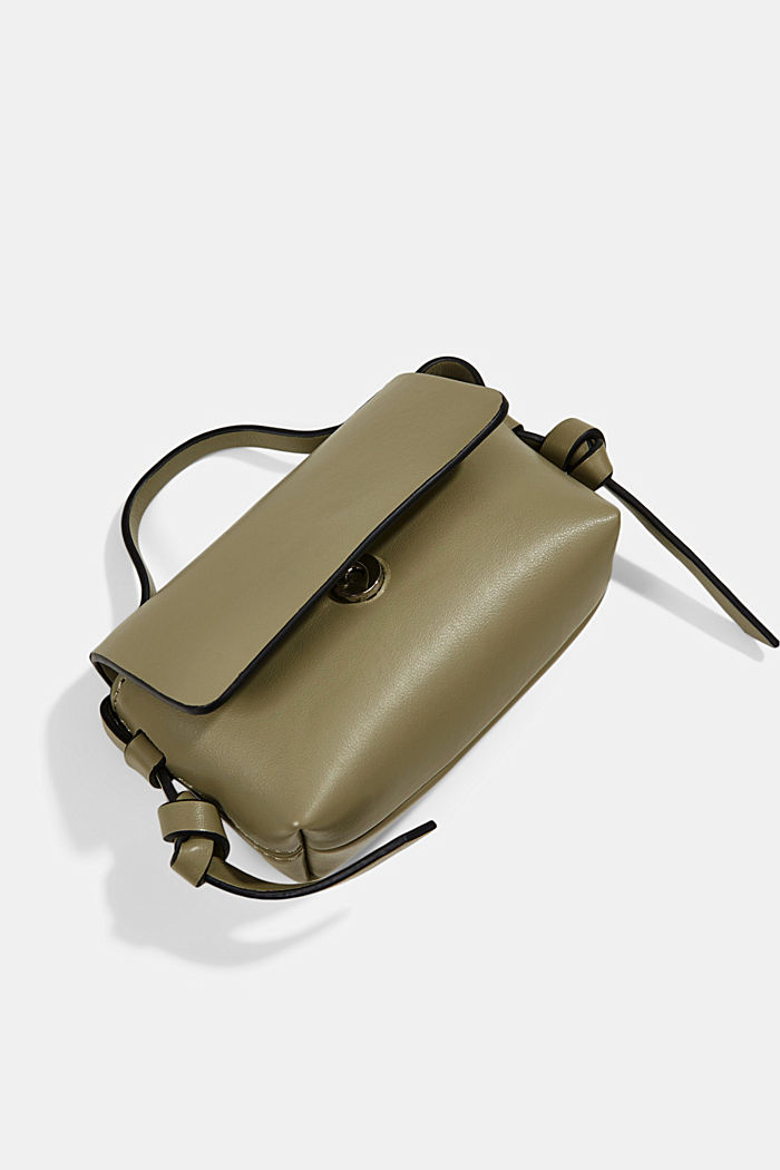 Vegan: Mini-Schultertasche, LIGHT KHAKI, detail image number 4
