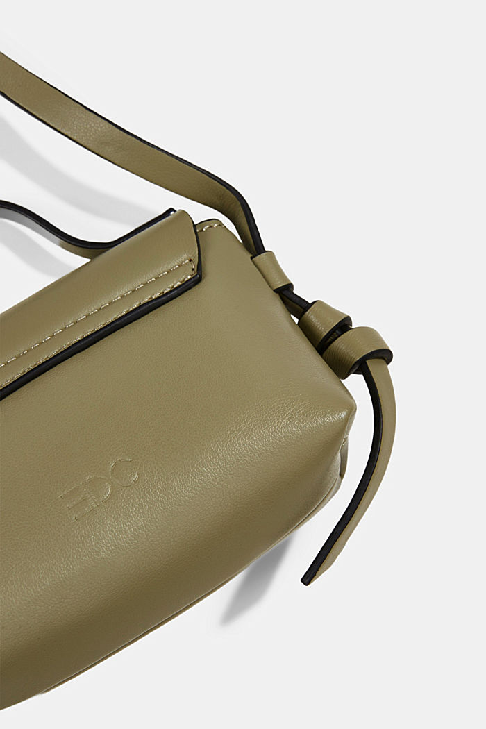 Vegan: Mini-Schultertasche, LIGHT KHAKI, detail image number 3