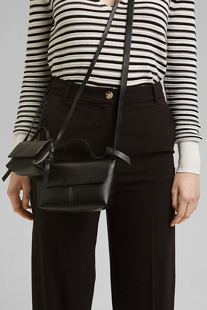 Vegan: small shoulder bag, BLACK, detail image number 6