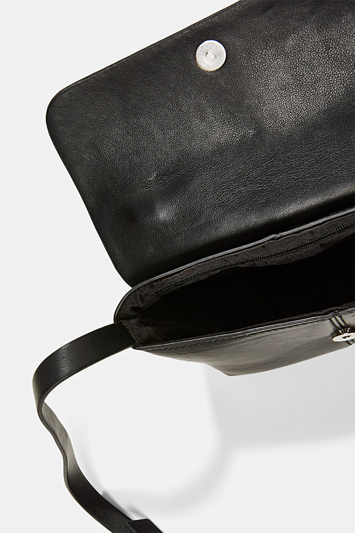 Vegan: small shoulder bag, BLACK, detail image number 4