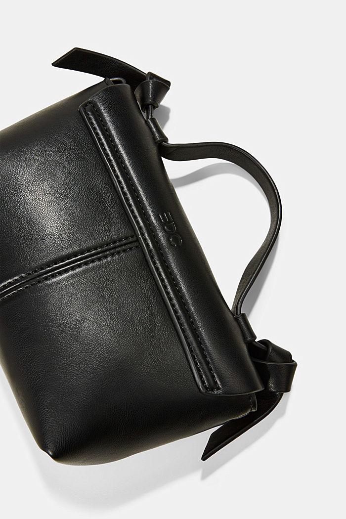 Vegansk: lille skuldertaske, BLACK, detail image number 3