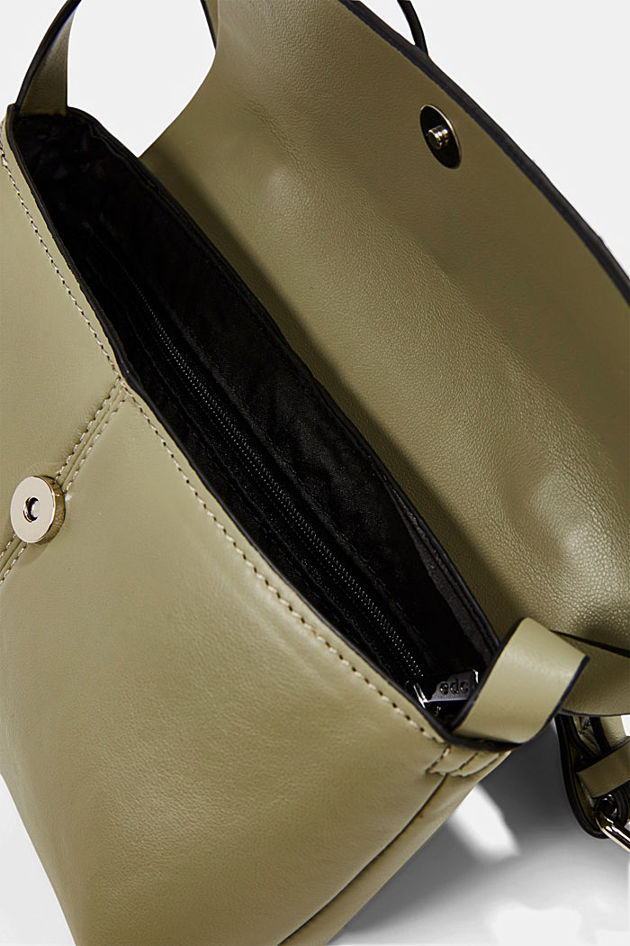 Vegan: kleine Schultertasche, LIGHT KHAKI, detail image number 3
