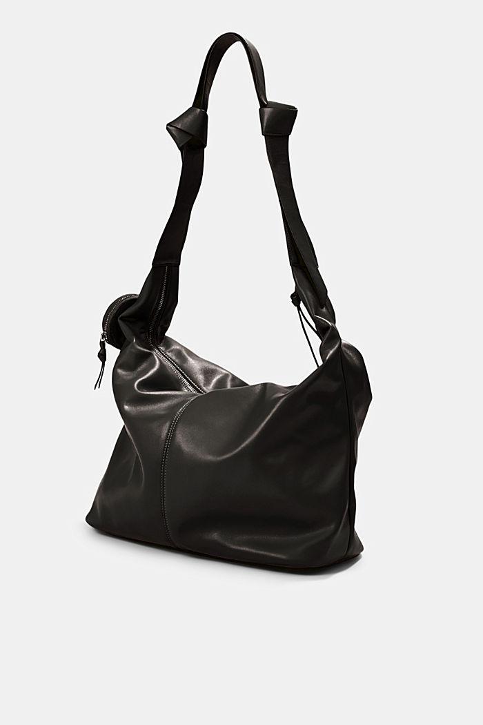 Vegan: Bag with small pendant bag, BLACK, detail image number 2
