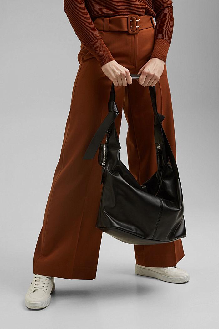 Vegan: Tasche mit kleiner Anhänger-Tasche, BLACK, detail image number 5