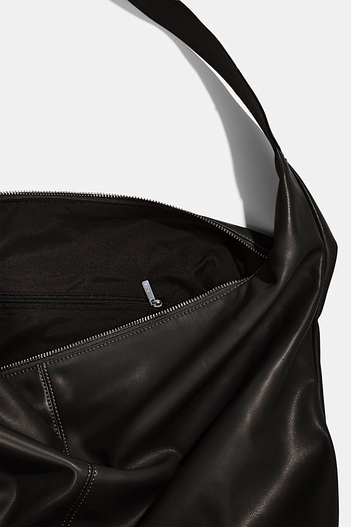 Vegan: Bag with small pendant bag, BLACK, detail image number 4