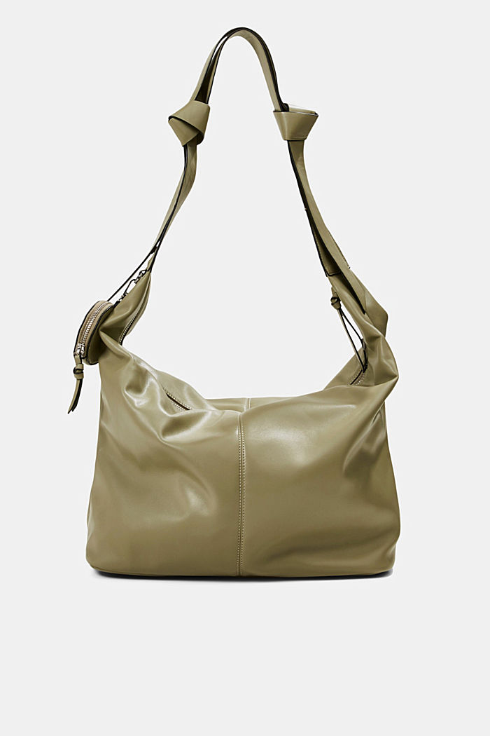 Vegan: Bag with small pendant bag, LIGHT KHAKI, detail image number 0