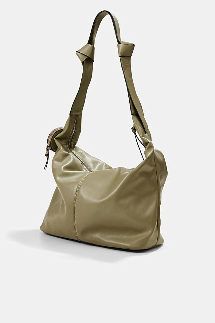 Vegan: Bag with small pendant bag, LIGHT KHAKI, detail image number 2