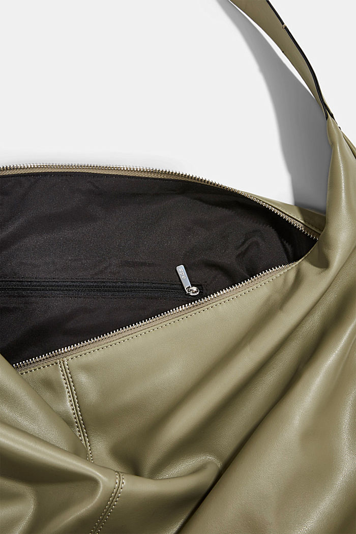Vegan: Bag with small pendant bag, LIGHT KHAKI, detail image number 4