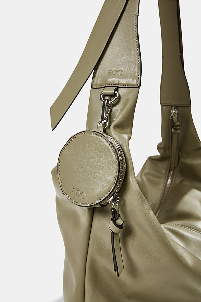 Vegan: Bag with small pendant bag, LIGHT KHAKI, detail image number 3