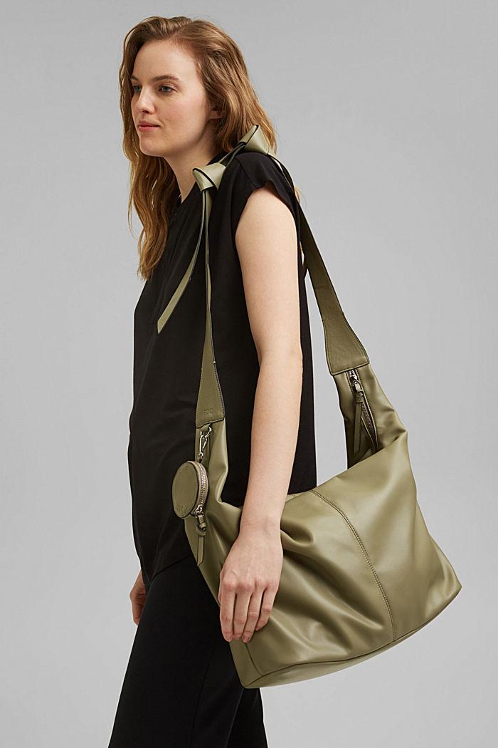 Vegan: Bag with small pendant bag, LIGHT KHAKI, detail image number 1
