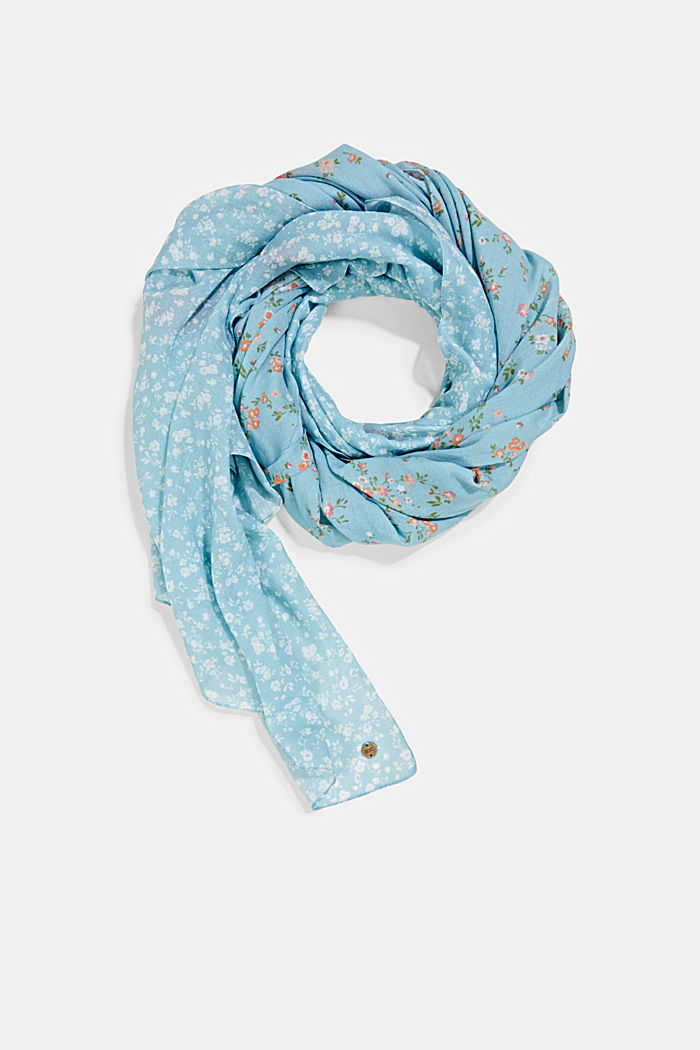 Tuch mit Mustermix aus Organic Cotton, LIGHT BLUE, detail image number 0