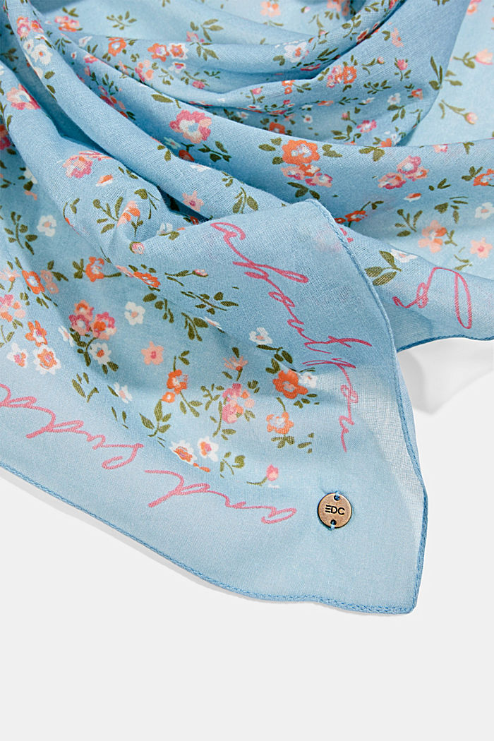 Bandana mit Print, 100% Organic Cotton, LIGHT BLUE, detail image number 2