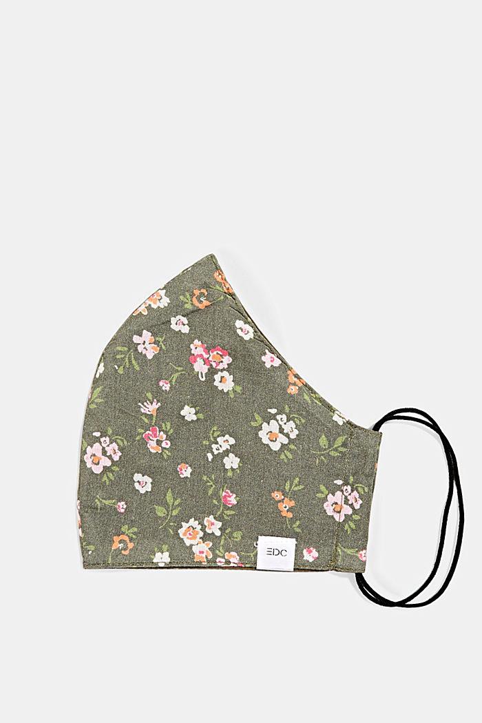 Gesichtsmaske aus 100% Organic Cotton, KHAKI GREEN, detail image number 0