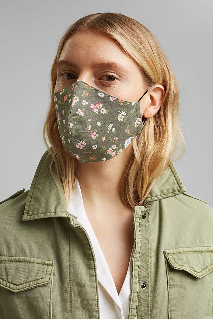 Gesichtsmaske aus 100% Organic Cotton, KHAKI GREEN, detail image number 2