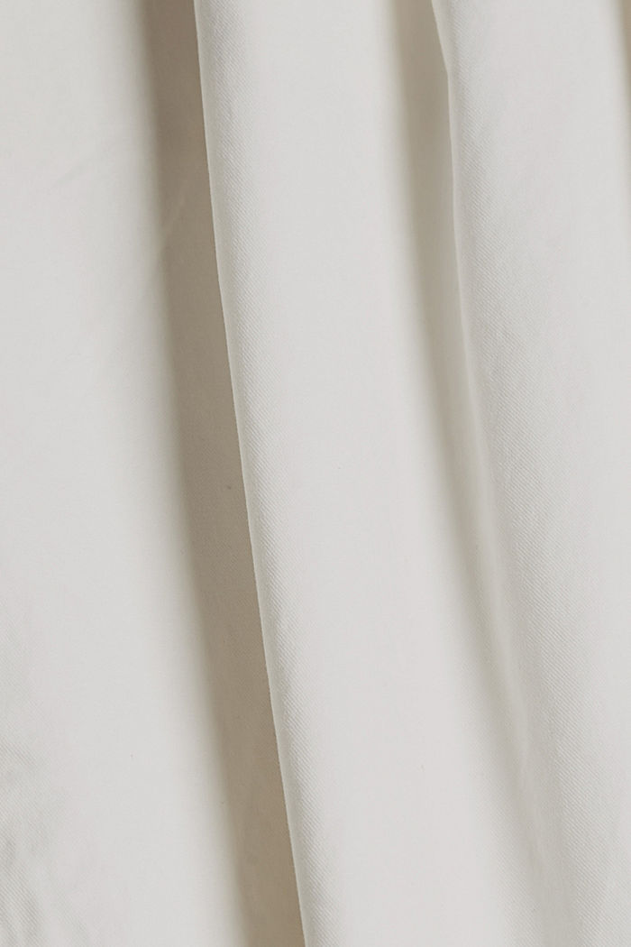 Stretch chinos in organic cotton, WHITE, detail image number 4