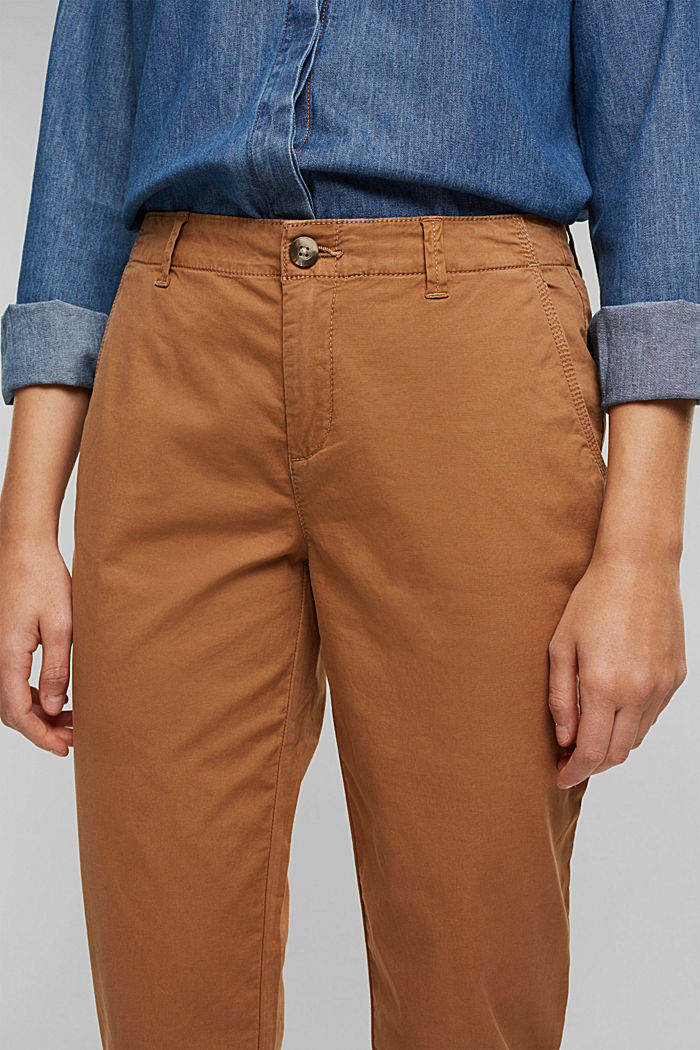 Stretch chinos in organic cotton, CARAMEL, detail image number 2