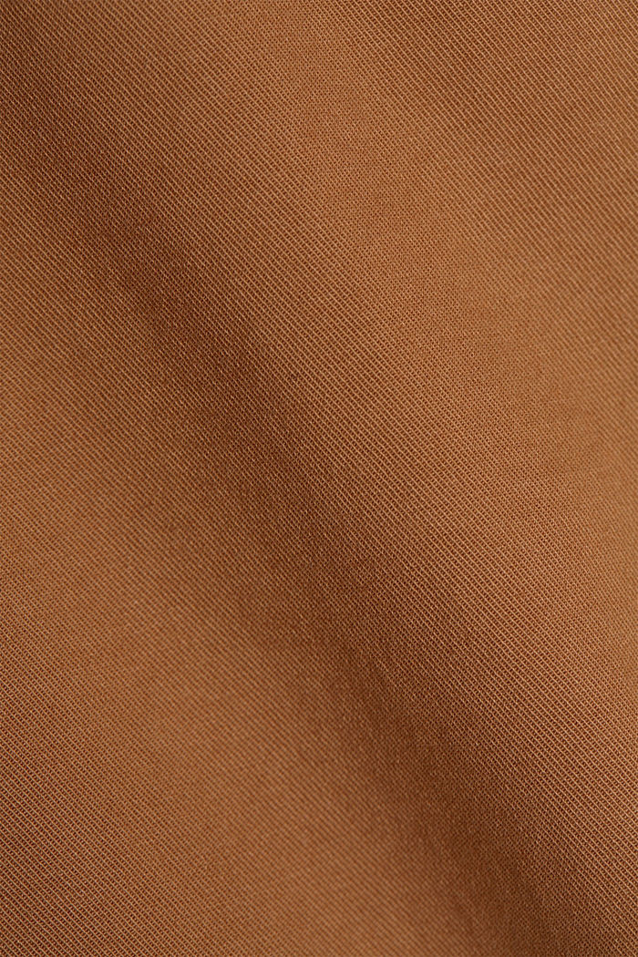 Stretch chinos in organic cotton, CARAMEL, detail image number 4