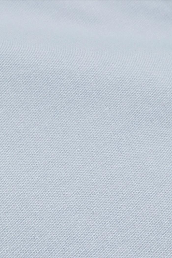 Chino met stretch van biologisch katoen, LIGHT BLUE LAVENDER, detail image number 4