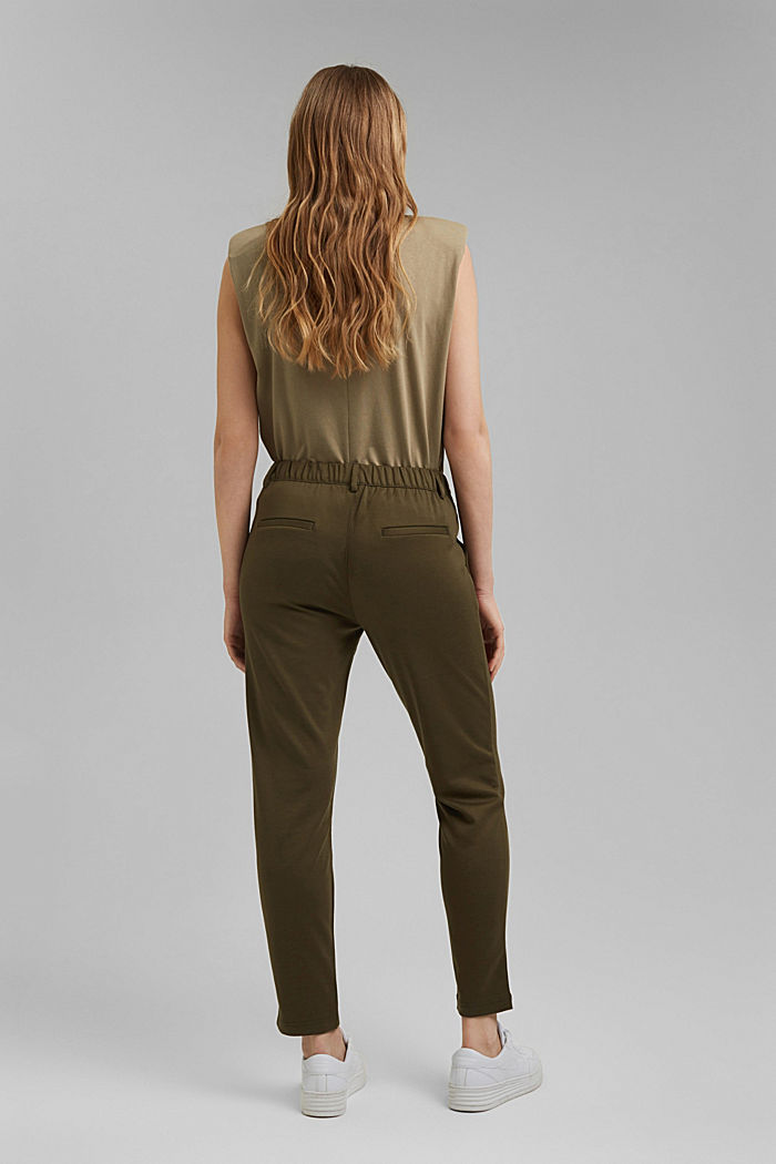 Jersey tracksuit bottoms, KHAKI GREEN, detail image number 3