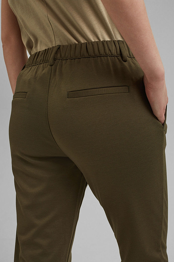 Jersey tracksuit bottoms, KHAKI GREEN, detail image number 2