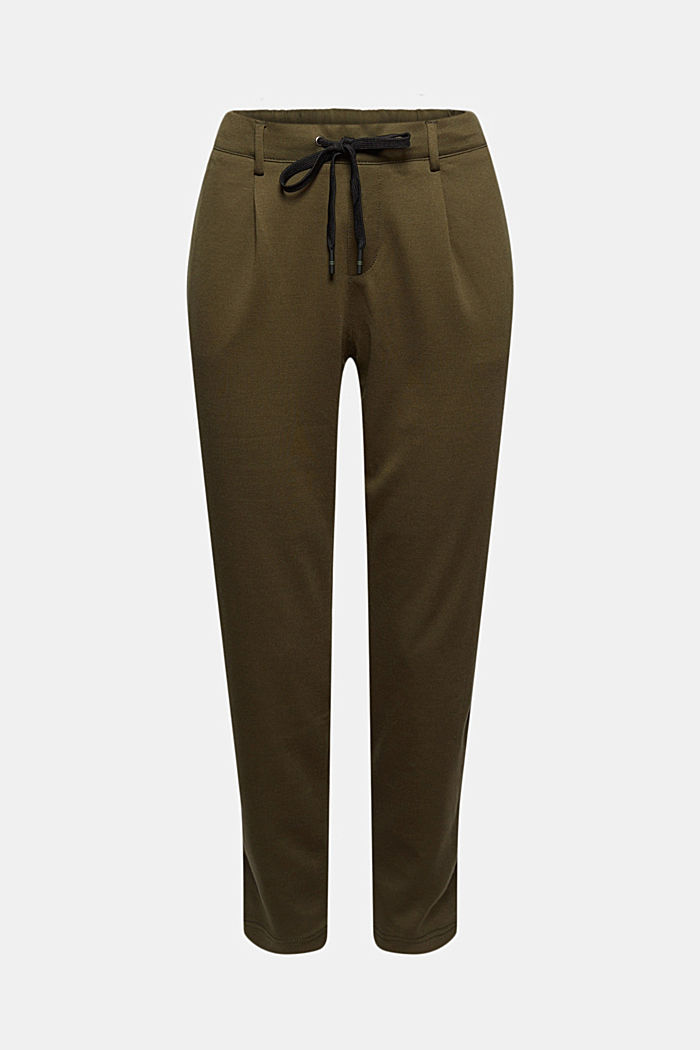 Jersey tracksuit bottoms, KHAKI GREEN, detail image number 5