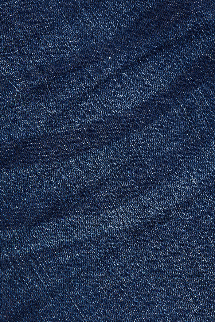 Ankle-length stretch jeans made of organic cotton, BLUE DARK WASHED, detail image number 4