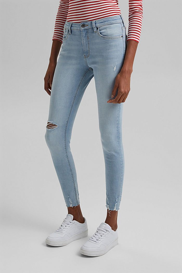 Knöchellange Stretch-Jeans aus Organic Cotton