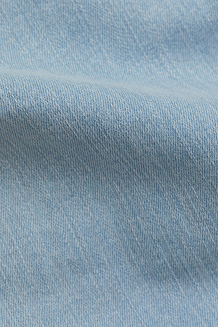 Ankle-length stretch jeans made of organic cotton, BLUE LIGHT WASHED, detail image number 4