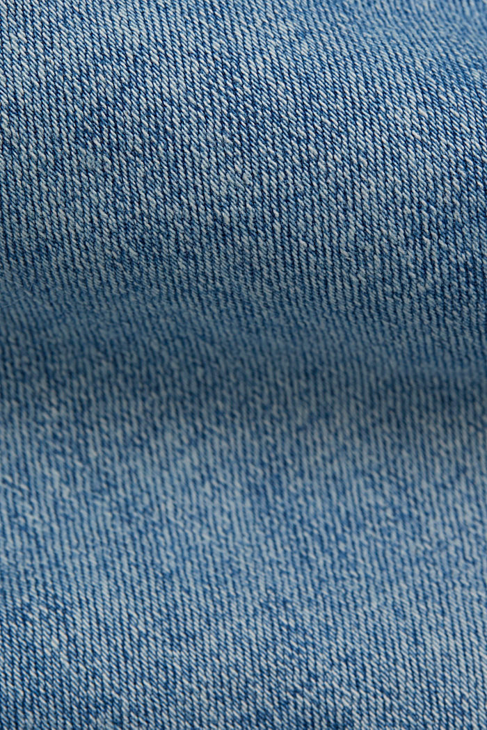Stretch jeans in organic cotton, BLUE LIGHT WASHED, detail image number 4