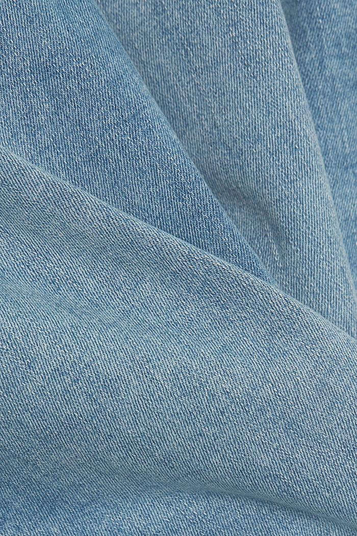 Stretchjeans met biologisch katoen, BLUE LIGHT WASHED, detail image number 4