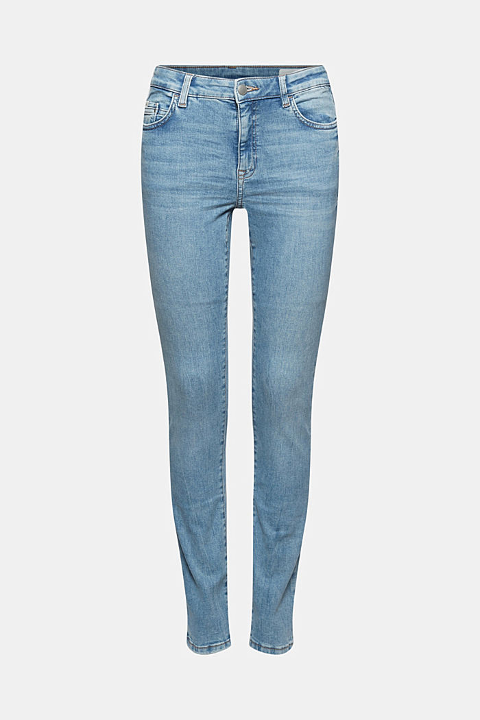Stretch-Jeans mit Organic Cotton, BLUE LIGHT WASHED, detail image number 8