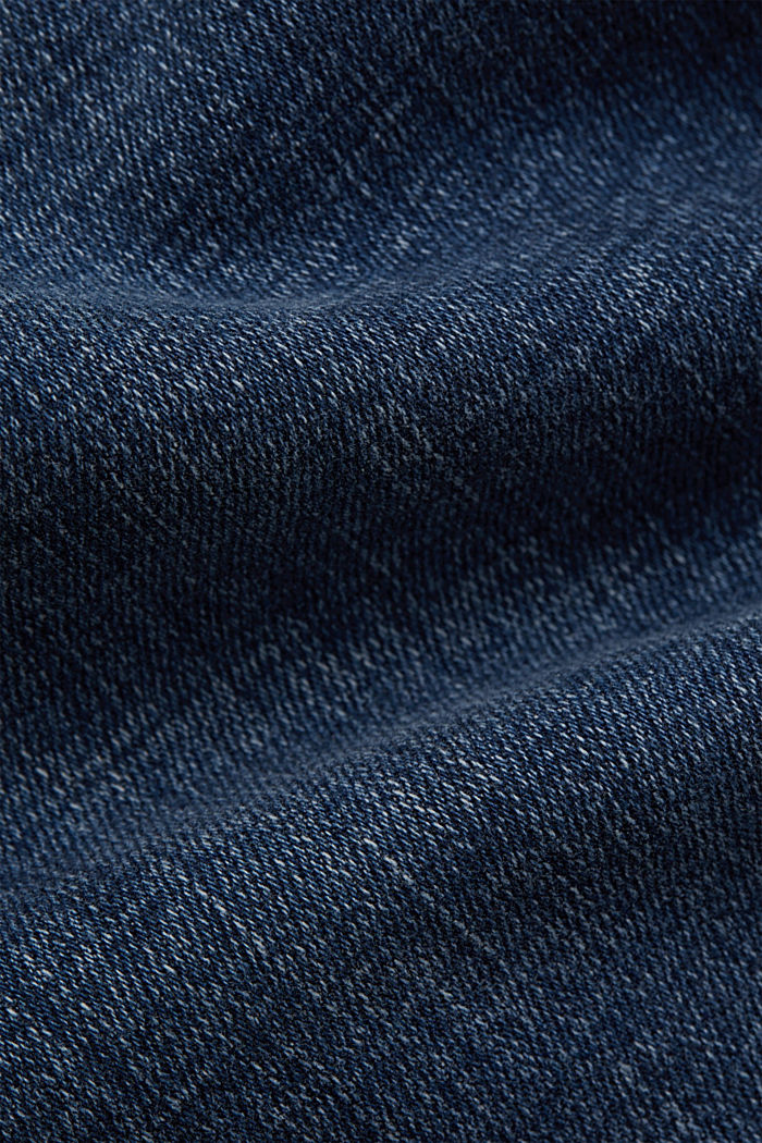Ankle-length jeans with yokes and hem zips, BLUE DARK WASHED, detail image number 4