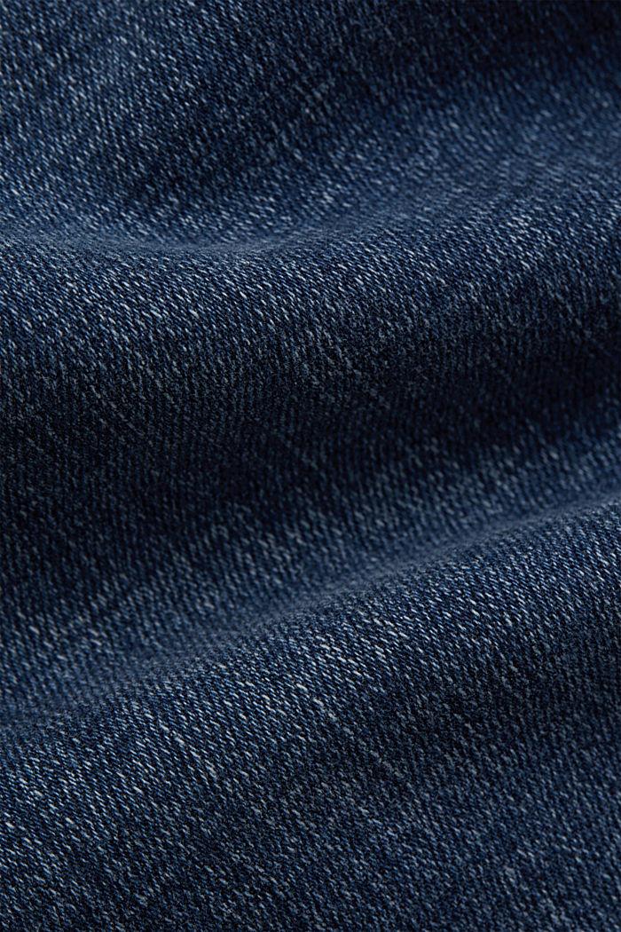 Knöchellange Jeans mit Yoke und Saum-Zippern, BLUE DARK WASHED, detail image number 4