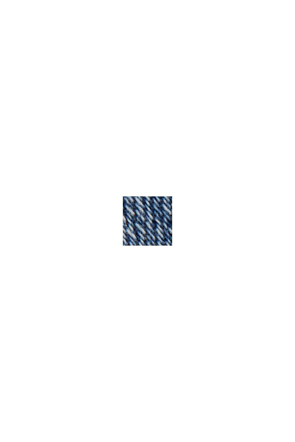 Enkellange jeans met yoke en ritsen in de zoom, BLUE MEDIUM WASHED, swatch