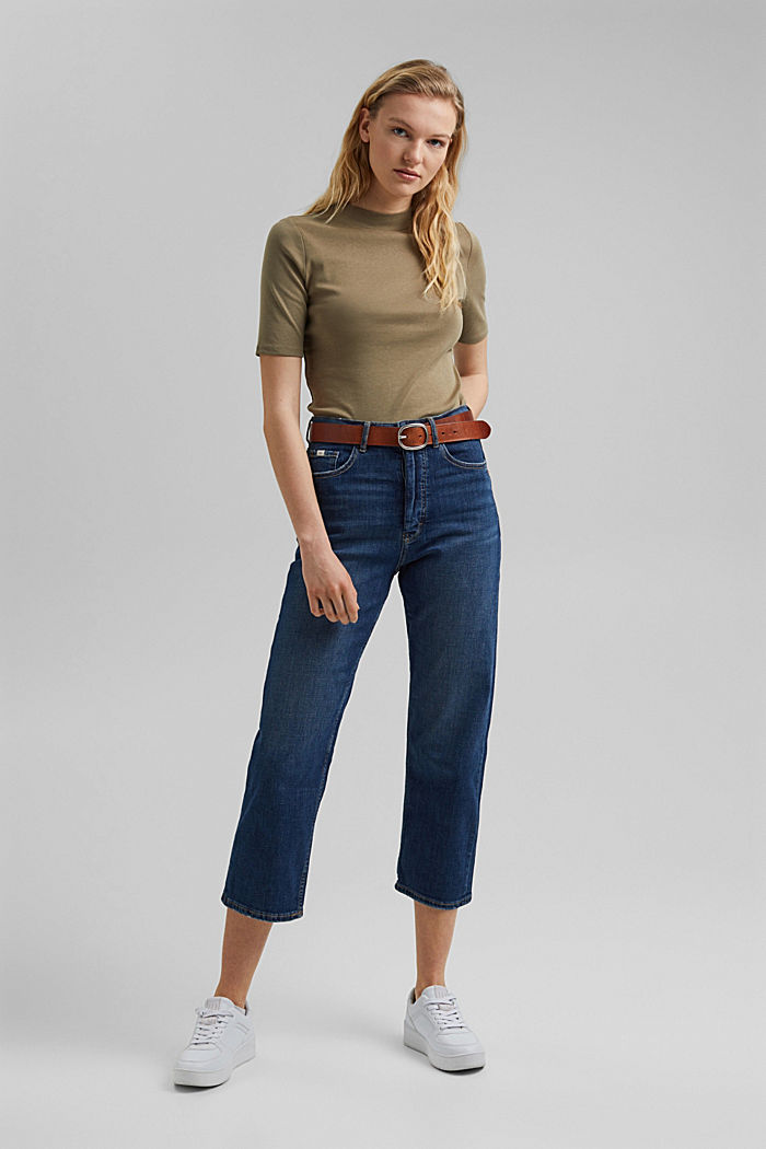 Cropped Jeans mit Fashion-Fit, BLUE DARK WASHED, detail image number 1